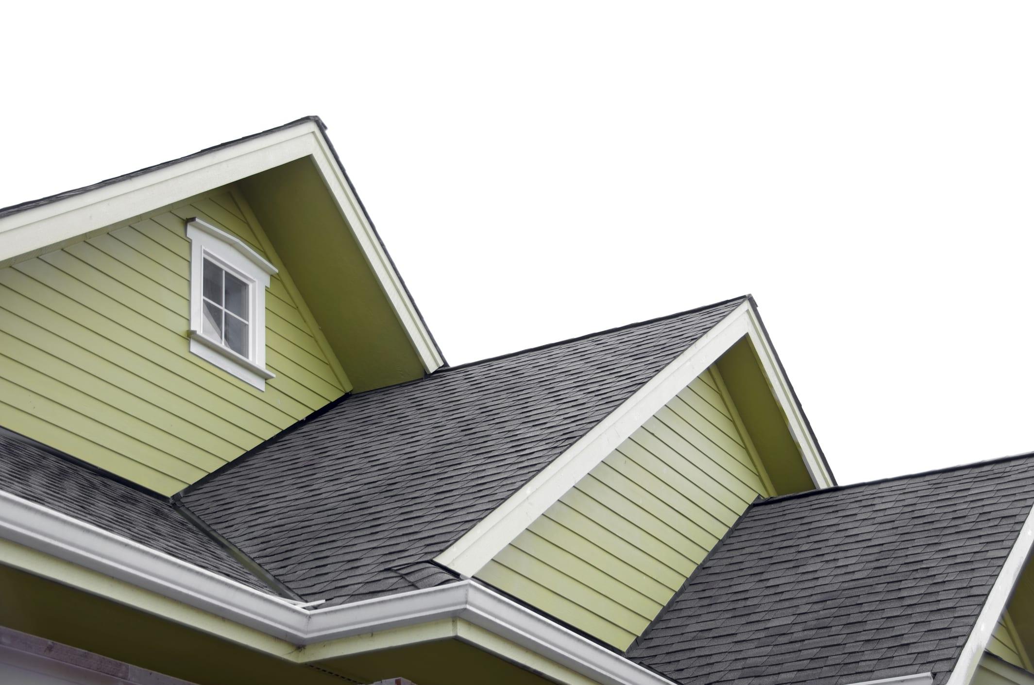 трехуровневая крыша дома